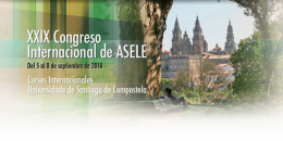 XXIX Congreso Internacional de la ASELE. Santiago de Compostela