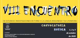 VIII Encuentro de Estudios e Investigaciones en torno a la Lengua Aragonesa y su Literatura. Huesca