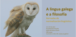 A lingua galega e a filosofía. Santiago de Compostela