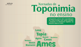 I Xornadas de Toponimia no Ensino. Ames
