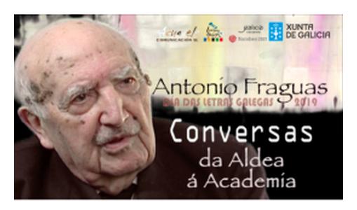 O Portal da Lingua Galega difunde 12 vídeos de conversaciones con Antonio Fraguas