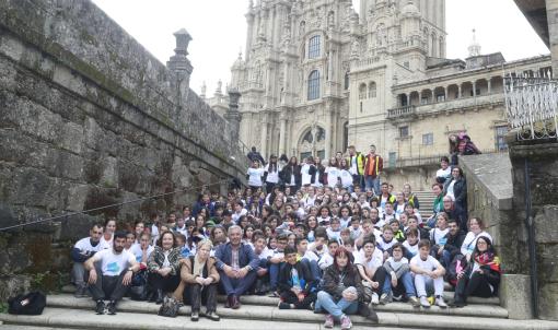 Un cento de estudantes do programa de promoción da lingua galega no Bierzo e Sanabria visitan Galicia