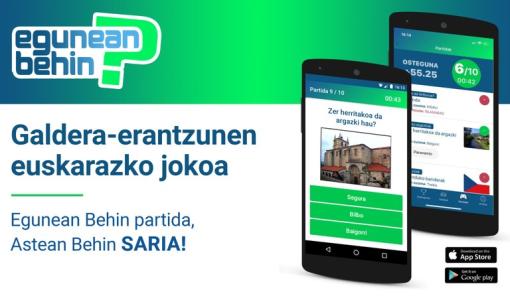 Nace Egunean Behin, un novo xogo para móbiles en éuscaro